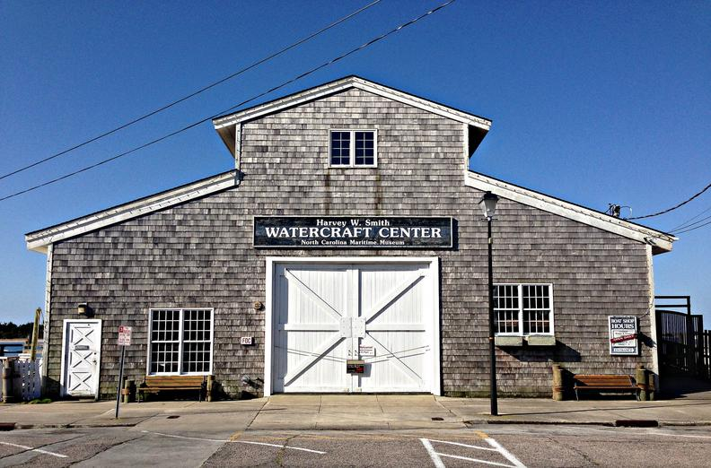 Harvey_W_Smith_Watercraft_Center_North_Carolina_Maritime_Museum_Beaufort_North_Carolina_Night__Exterior_Building_Cropped
